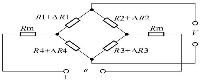 电阻应变式称重传感器的桥式测量电路如图所示.